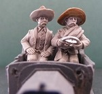 Mexican Pancho Villa and Driver (seated figures)
