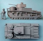 K50 Vickers Medium Mark III Tank (1/55th)