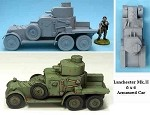 K59 Lanchester 6 x 4 Mk. II Armoured Car(1/55th)