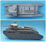 K63 Medium C `Hornet` Male Tank with 6pdr Gun (1/55th)