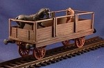 Unarmored Train Horse car (complete kit) (1/56th)