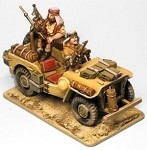Willy's Jeep LRDG/SAS includes 2 crew & stowage (1/56th)